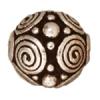 Bead Spirals 8mm Antique Silver